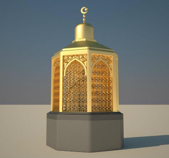 """Место Ибрахима, где паломник, совершающий умру, должен прочитать 125-й аят из суры """"Бакара"""""""