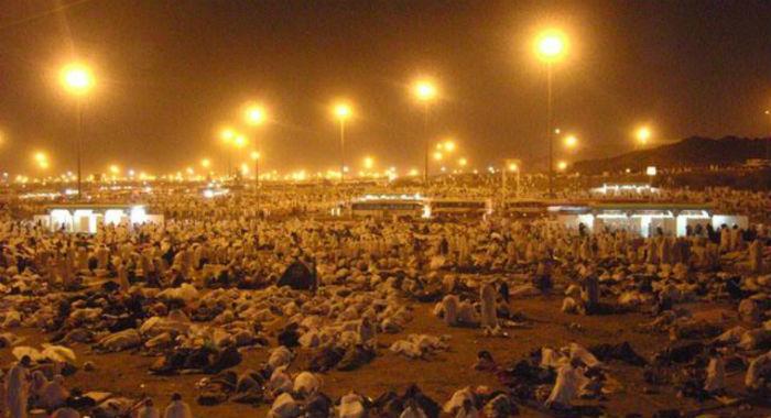 Муздалифа во время хаджа